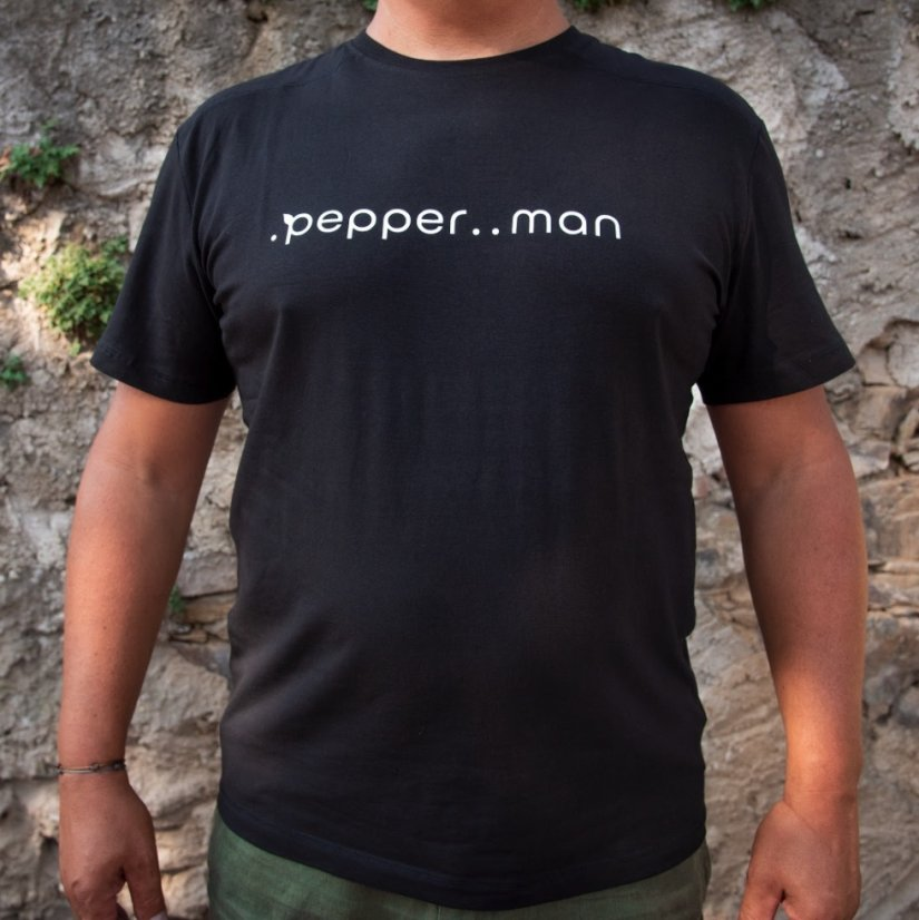 Černé triko .pepper..man nebo .pepper..woman - Varianta: .pepper..man - XL
